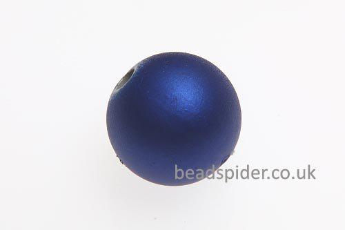 Capri Blue Satin Solaris Bead