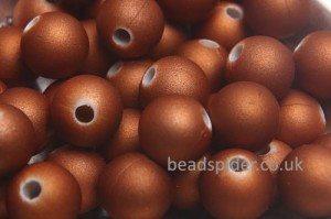 Caramel Satin Solaris Bead