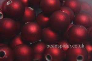 Red Satin Solaris Bead