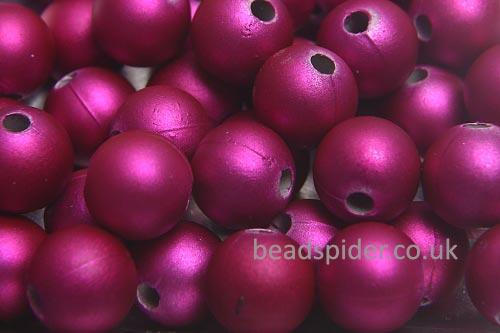 Hot Pink Satin Solaris Bead