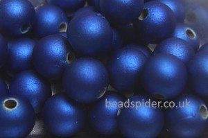 Capri Blue Satin Solaris Bead
