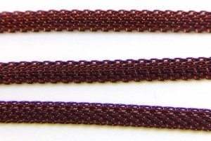 Burgundy Woven Chain