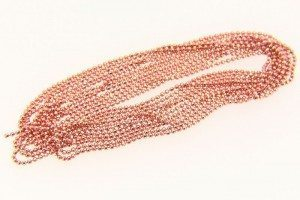 Salmon Coloured Shimmer Ball Chain