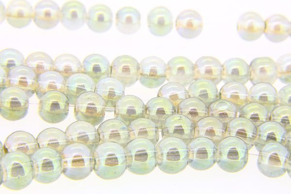 Light Olivine AB Aurora Bead