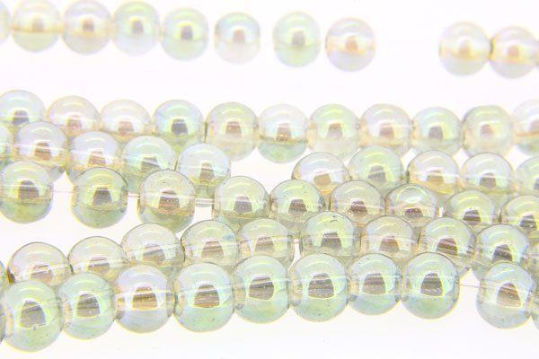 Light Olivine AB Aurora Bead