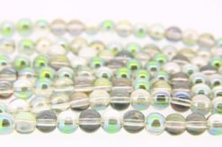 Pixie Green AB Aurora Beads