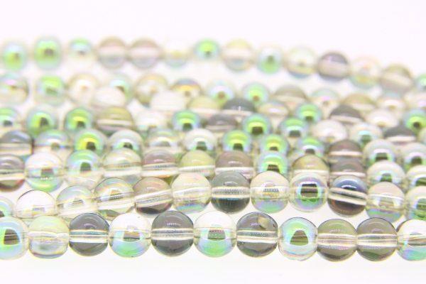 Pixie Green AB Aurora Beads