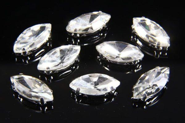 7x15mm Crystal Chaton Navette 8pcs