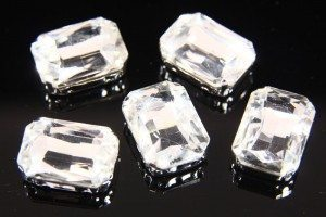 13x18mm Crystal Chaton Rectangle 5pcs