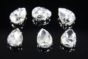 10x14mm Crystal Chaton Teardrop 6pcs
