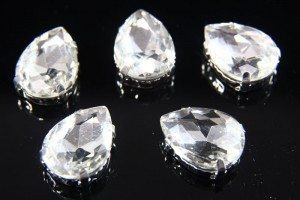 13x18mm Crystal Chaton Teardrop 5pcs