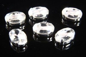 10x14mm Crystal Chaton Oval 6pcs