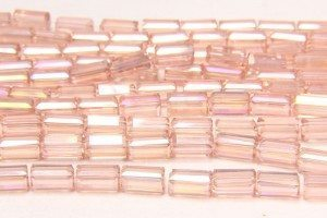 Rose Quartz AB Crystal Brick