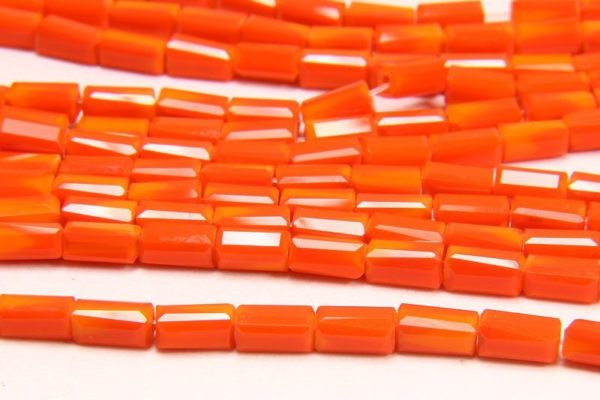 Opaque Tangerine Crystal Brick