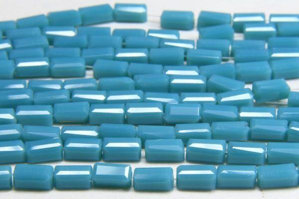 Opaque Blue Jade Crystal Brick