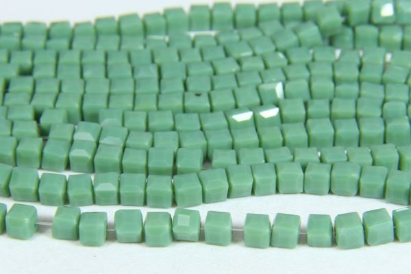 Pastel Green Crystal Cube