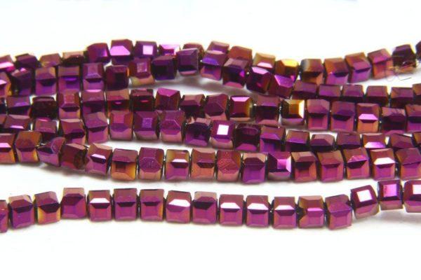 Mystic Purple Crystal Cube