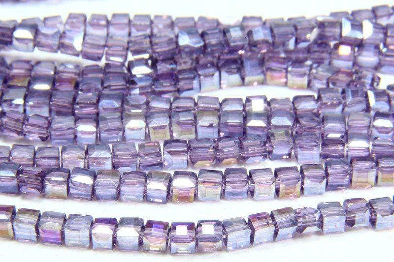 Purple AB Crystal Cube