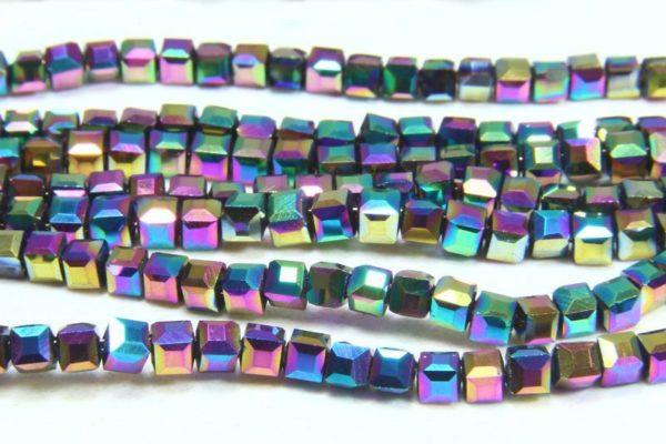 Rainbow AB Crystal Cube