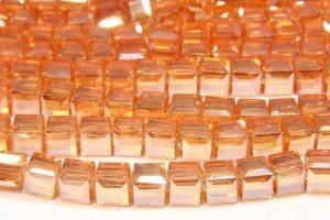 Tangerine Crystal Cube