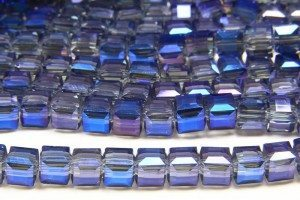 Neptune Blue AB Crystal Cube