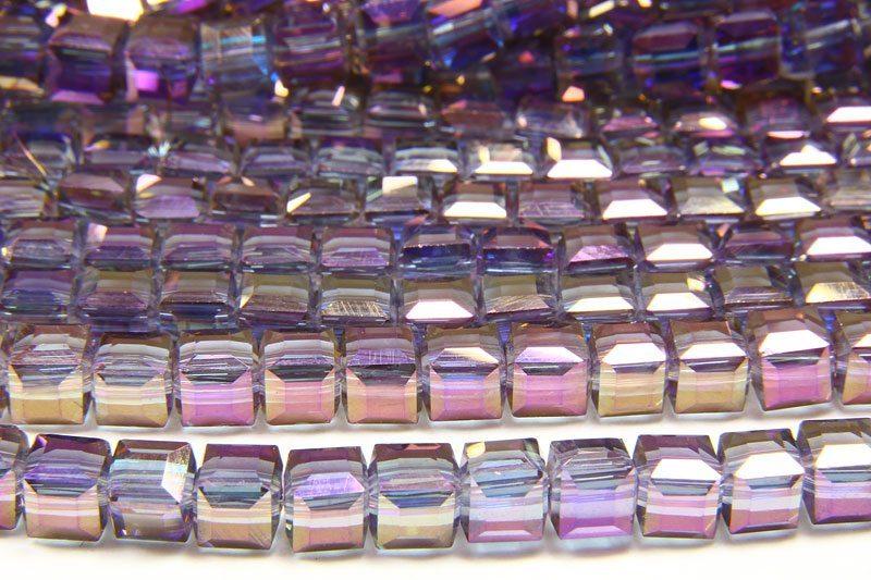 Violet AB Crystal Cube
