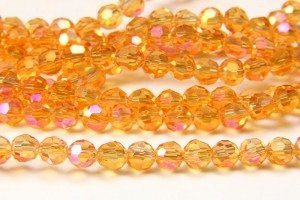 Tangerine AB Crystal Facetted Round