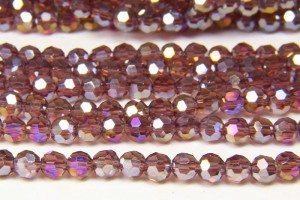 Amethyst AB Crystal Facetted Round