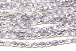 Silver and Clear Crystal Rice