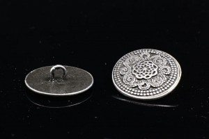 Large Hole Shank Patterned Button