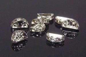 2 Hole Metal Beads