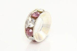 Rose Quartz and Clear Ring