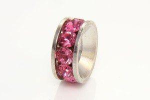 Rose Quartz Antiqued Ring