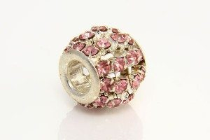 Rose Quartz Diamante Barrel