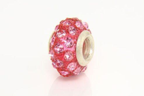 Rose Quartz with Blush Marcasite Donut