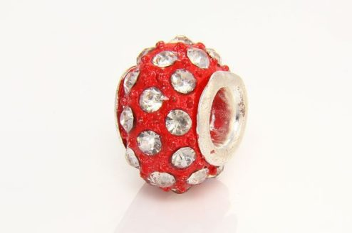 Crystal with Ruby Marcasite Donut