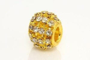 Clear Diamante Studded Gold Barrel