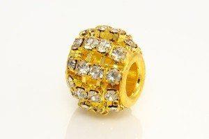 Clear Diamante Studded Gold Barrel