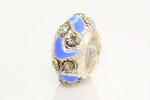 French Blue Shell Pearl and Clear Donut