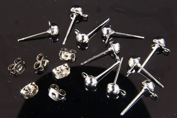 Earring Posts with Backs
