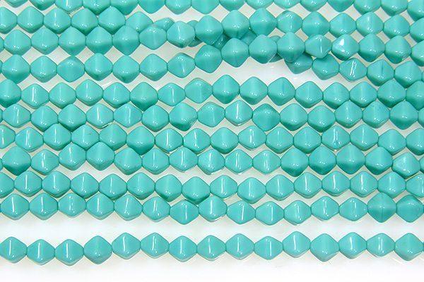 Opaque Turquoise Bi-cones