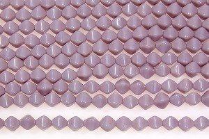Opaque Lavender Bi-cones