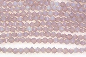 Opaque Milky Lavender Bi-cones