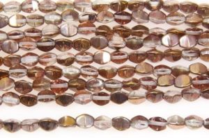 Crystal Rose Gold Pinch Beads