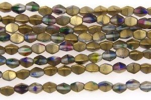 Frosted Eqyptian Gold Pinch Beads
