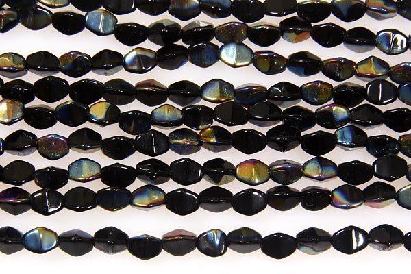 Jet Gold AB Pinch Beads