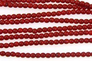 Opaque Cherry Round Beads