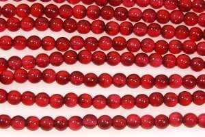 Transparent Cherry Round Beads