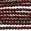 Red Brick Swirl Round Beads
