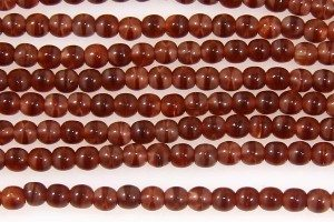Sienna Swirl Round Beads